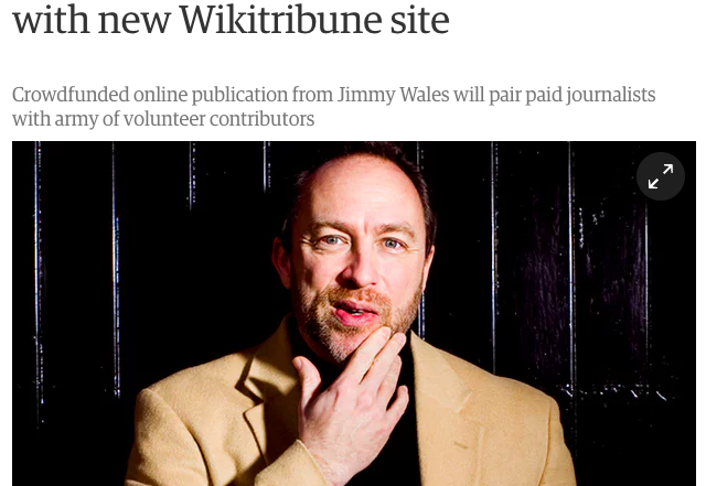 Wikitribune: can crowd-sourced journalism solve the crisis of trust in news?