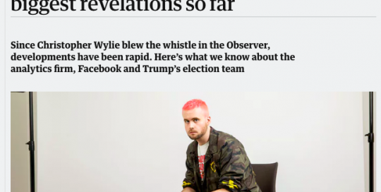 Cambridge Analytica: a symptom of a deeper malaise in the persuasion industry
