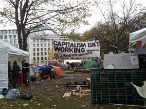 Despite protest movements like Occupy London, neoliberalism ideas have been maintained (Credit: Evgenii)