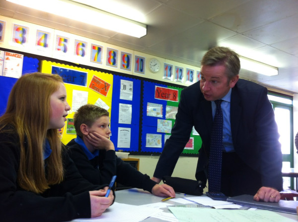 Michael Gove, explaining his free school policy (Credit: Regional Cabinet CC BY 2.0)