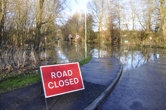 Road closed - flooding