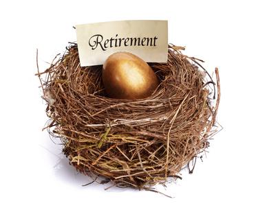 Retirement savings golden nest egg