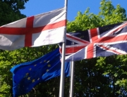 Eng Brit & EU flags