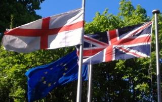Eng Brit & EU flags