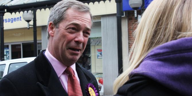 Farage being interviewed