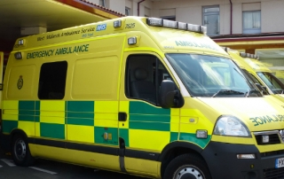 NHS emergency ambulance
