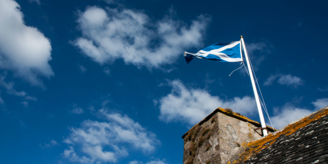Scottish flag St Andrews