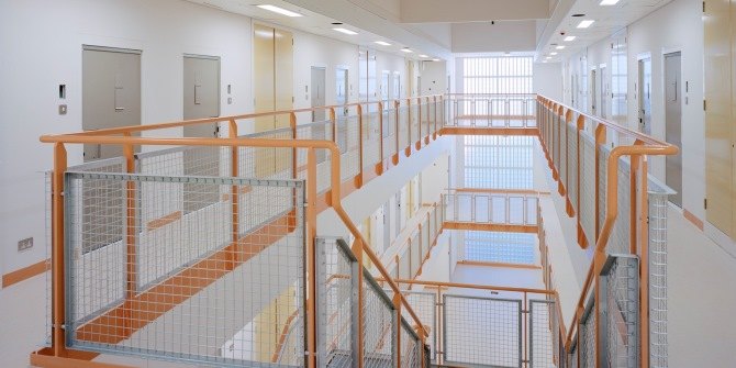 The interior of Brook House detention centre