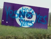 Scotland Yes No sign