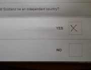 Scotland independence ballot paper