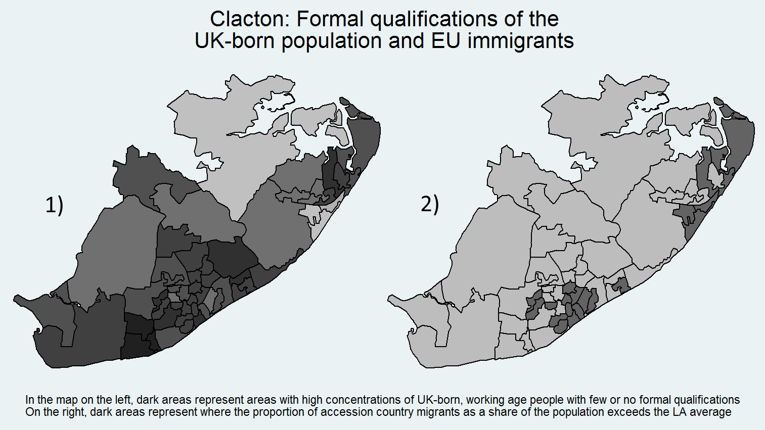 Local Elections In The Local Authority Of Tendring Of Which Clacton Forms A Part So We Are Unable To Compare With Ukip Vote Shares However Map 1