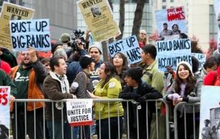 Financial crisis protest