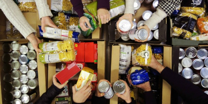 New evidence shows people use food banks due to the negative effects of welfare reform