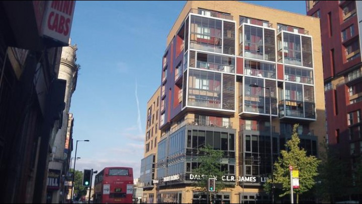 Dalston junction, new apartment blocks, 2013. Credit: Matthew