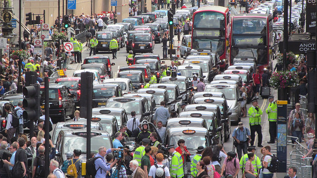 anti-uber protest London