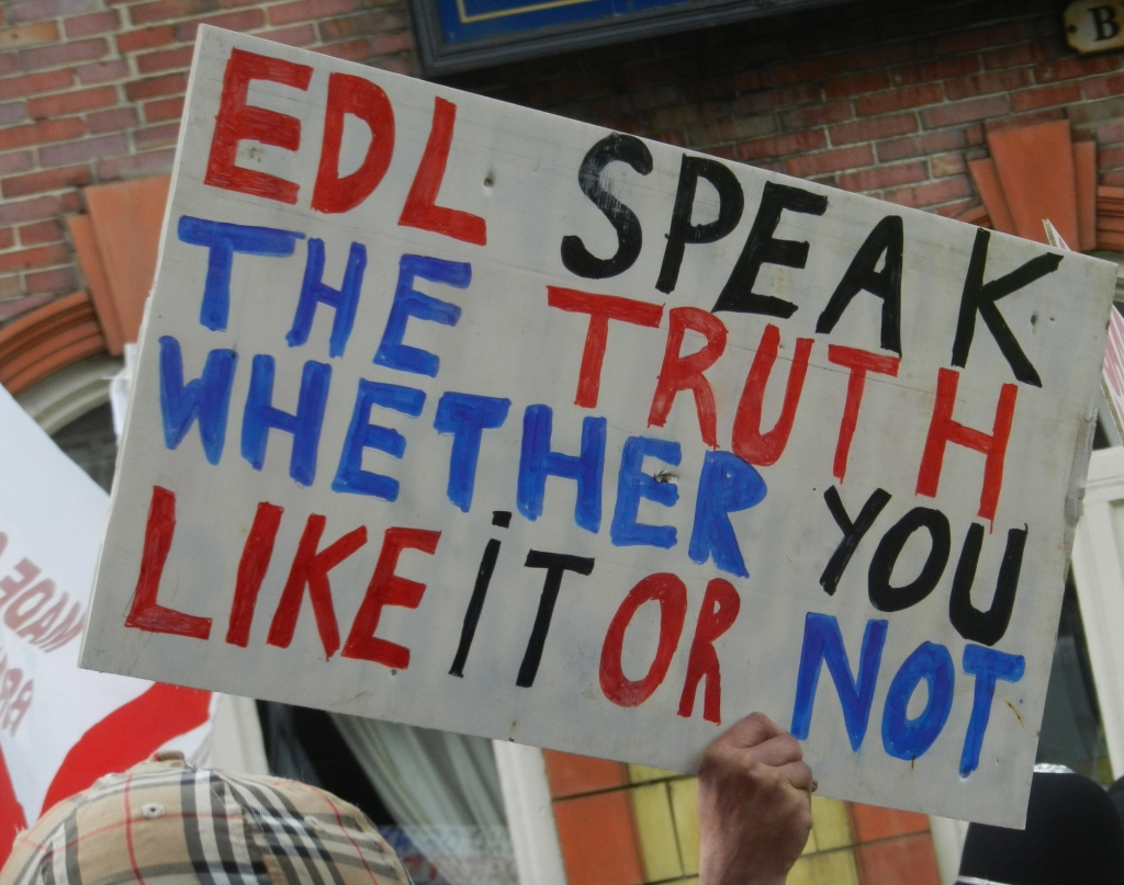 EDL speak the truth
