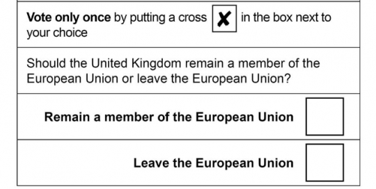 The Brexit referendum question was flawed in its design
