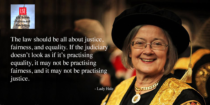 Lady Hale: Simply hoping that the women will 'trickle up' has not been good enough
