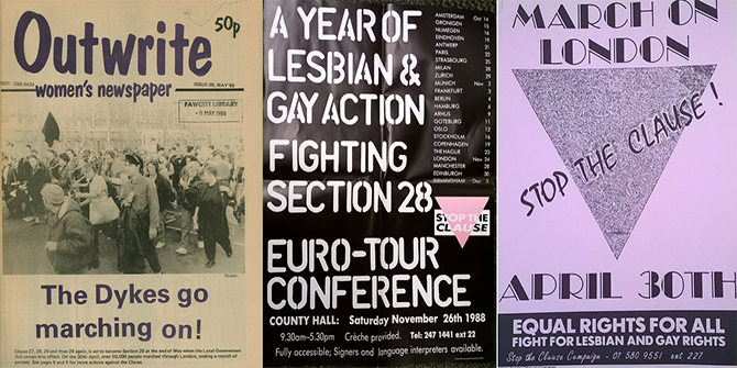 Section 28, three decades on: the legacy of a homophobic law through the LSE Library's collections