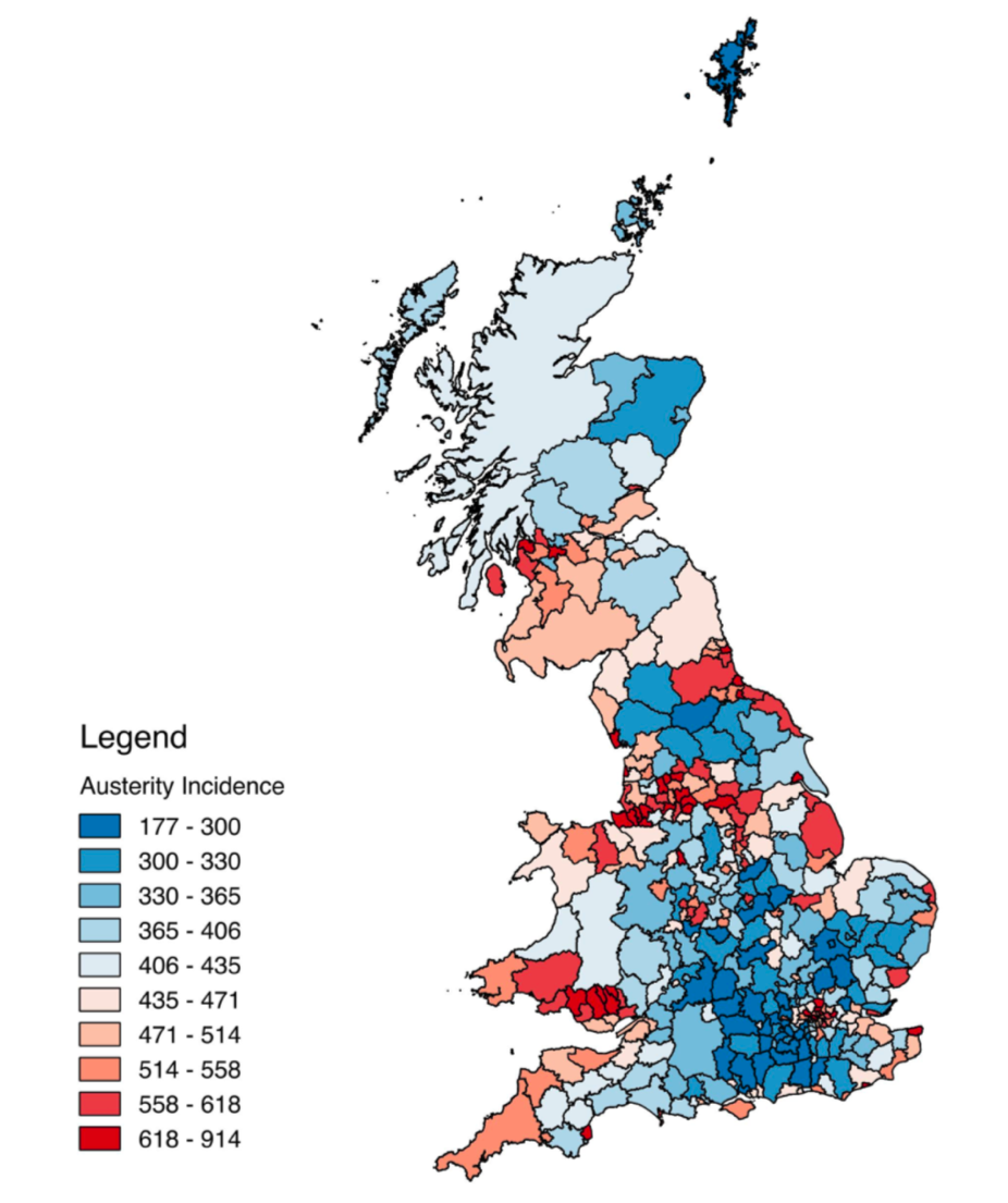 Map Of Uk Votes 2015.Had Austerity Not Happened Leave Support Could Have Been Up To 10