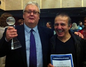 Andy with the 'GCC- Oscar' and Elias with his personal 'Spirit of the Challenge' award.