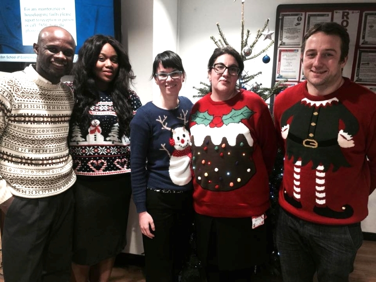 The team at Rosebery looking extremely festive!