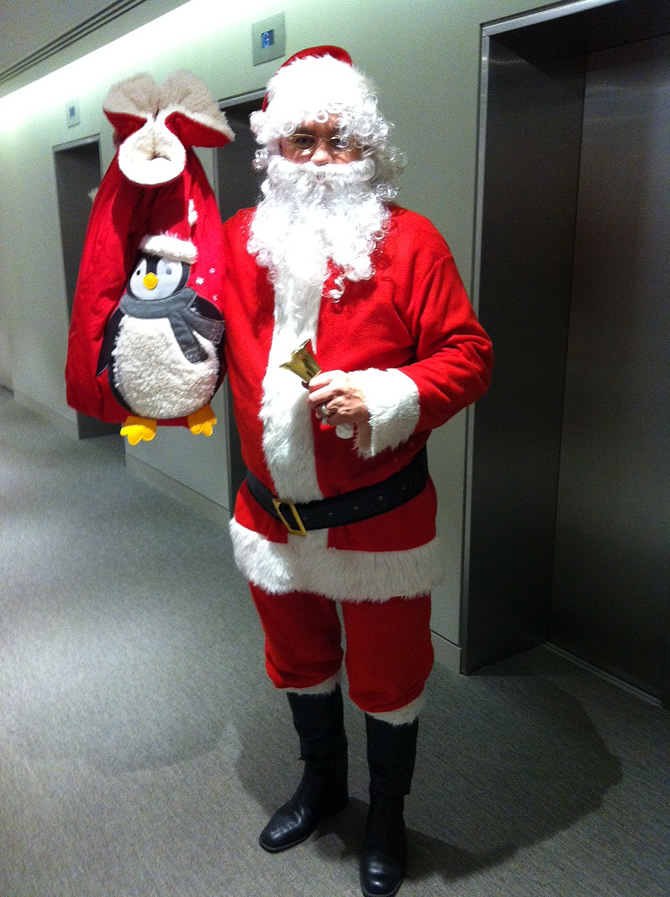 Mystery Santa Spotted On Campus But Was He For Real
