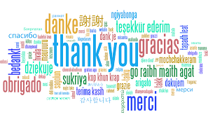 Thankyou in different languages