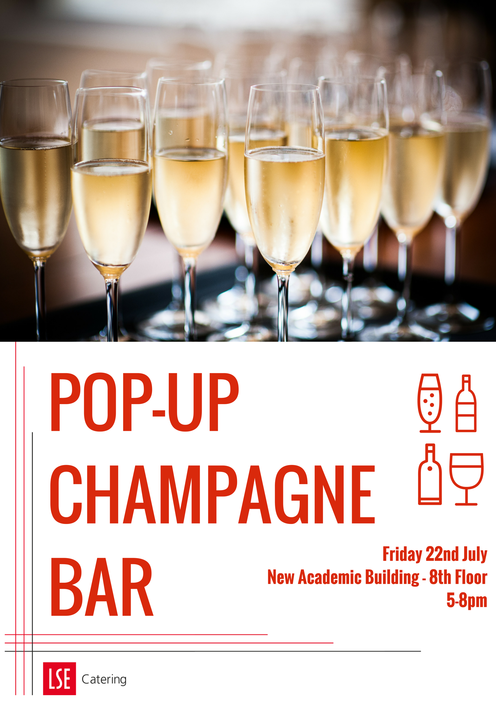 Pop-Up Champage Bar 22 July 2016