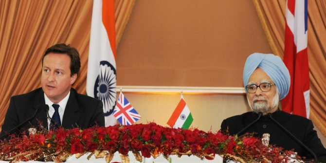 Cameron's visit to India in 2010