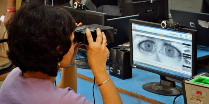 S Campion Aadhaar iris scanning