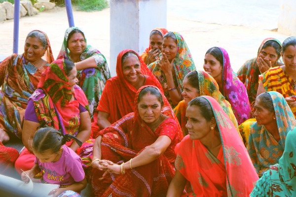 A self-help group in the village of Bhimrana