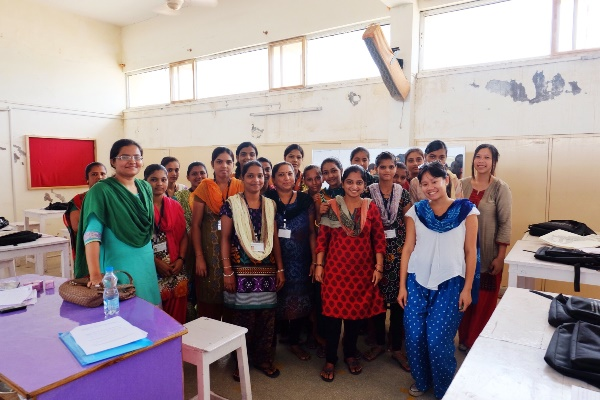 BET Beautician students at TCSRD's Skill Development Centre