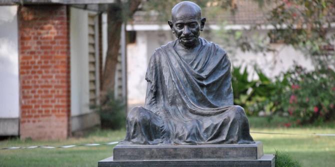 Gandhi ashram statue