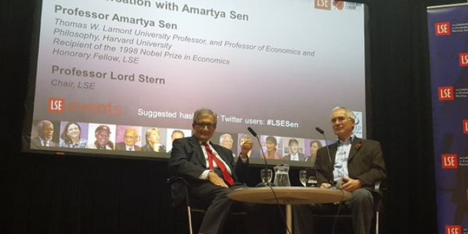 In conversation with Amartya Sen: Critical reflections on identity and development