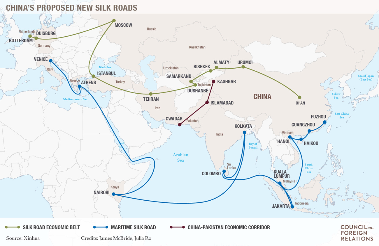 China's new silk roads