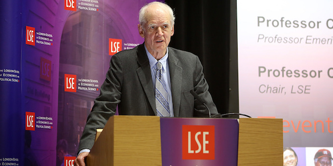 Charles Taylor speaking at LSE in 2015. Credit: LSE/Nigel Stead