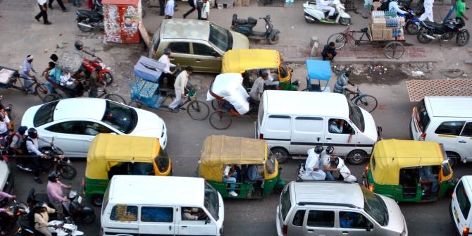 S Campion Delhi traffic jam