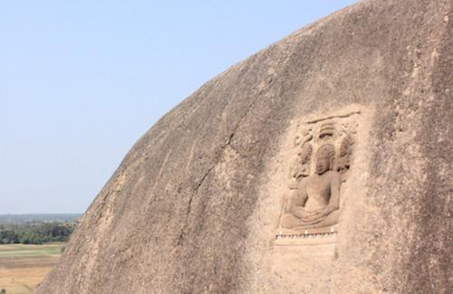 A stand-alone bas-relief on a hillock near Onambakkam - Photo-Mahima A Jain