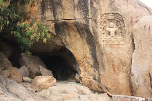 Samanarmalai - example of cave and bas-relief-Photo- Mahima A Jain