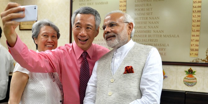 Modi & PM Lee Hsien Loong