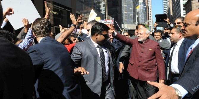 Modi arrives in NY