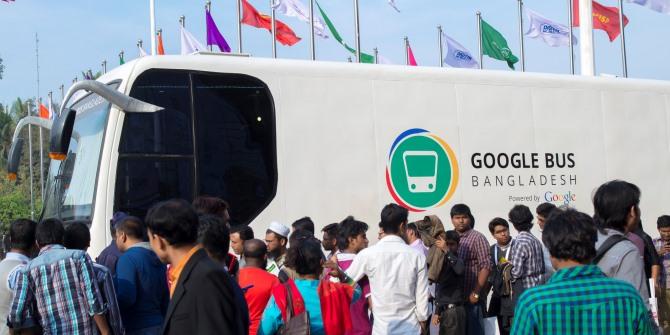 Building a digital Bangladesh - Google Bus at Digital World 2015 in Dhaka. Credit: Aminul Islam Sajib/aisjournal.com