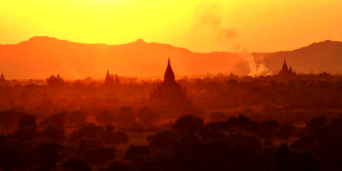 Image: Sunset over Bagan (Myanmar, 2013). Credit: Paul Arps CC BY 2.0
