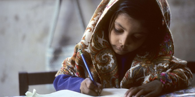 UN Photo Pakistani schoolgirl