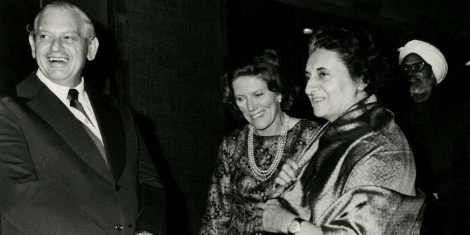 Historical ties: New Zealand PM Norman Kirk with Indian Prime Minister Indira Gandhi in 1973. Image credit: Archives New Zealand CC BY-SA 2.0