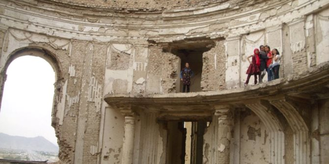 Who will rule? Ruined palace in Afghanistan, taken by the author during fieldwork.
