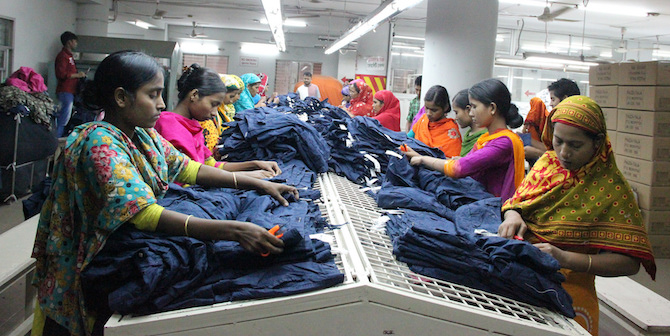 Real effects of electronic wage payments: Bangladeshi factory workers