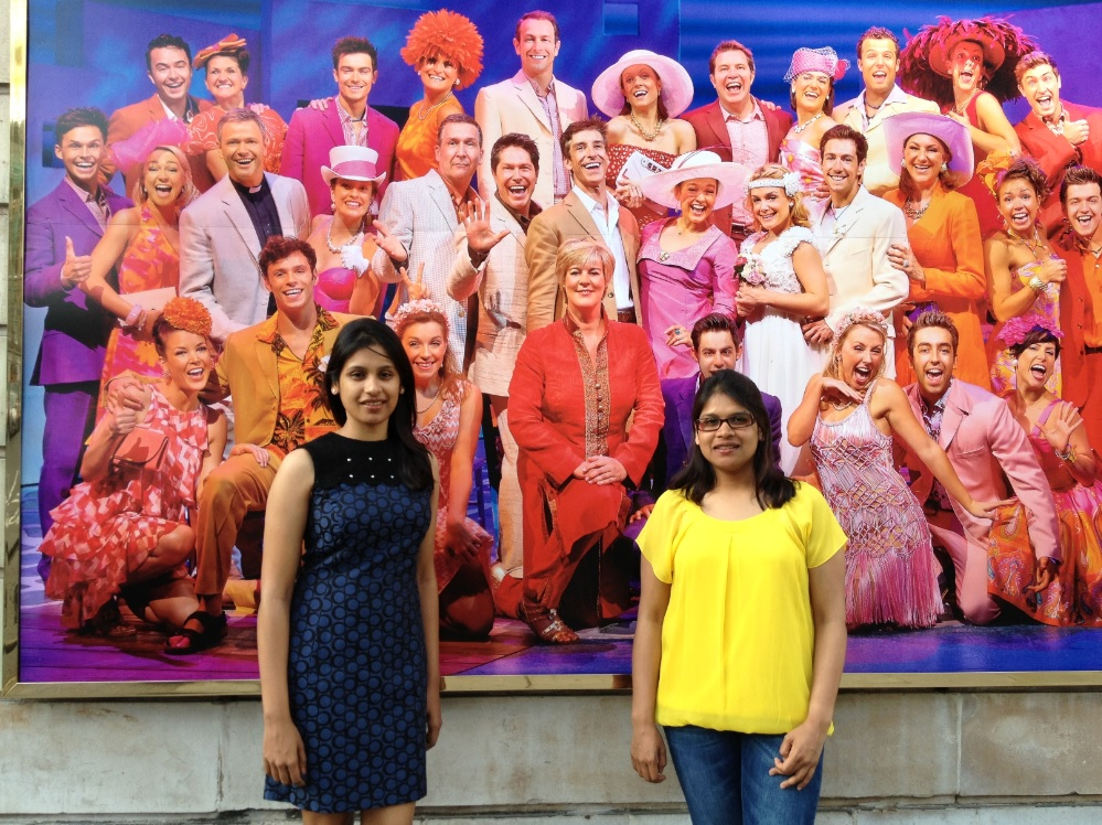 With the wonderful and colorful cast of Mamma Mia!