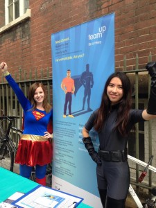 picture of Team Up Committee President, Alyish Donnelly and Committee Treasurer Emma Yuen